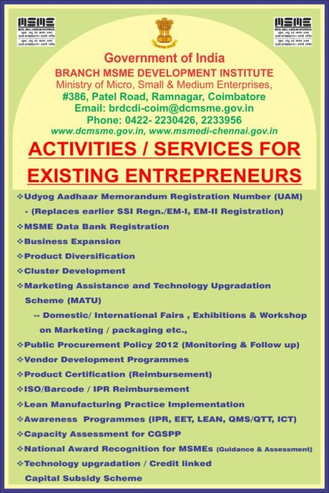 services to Entreprenuers